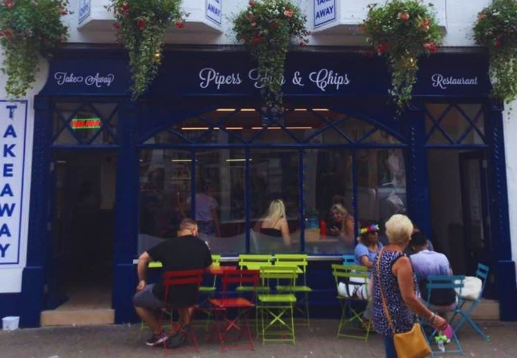 Pipers Fish and Chip shop in Tenby