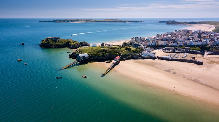 Visiting one of Tenby's beaches is one of our favourite things to do when we visit.