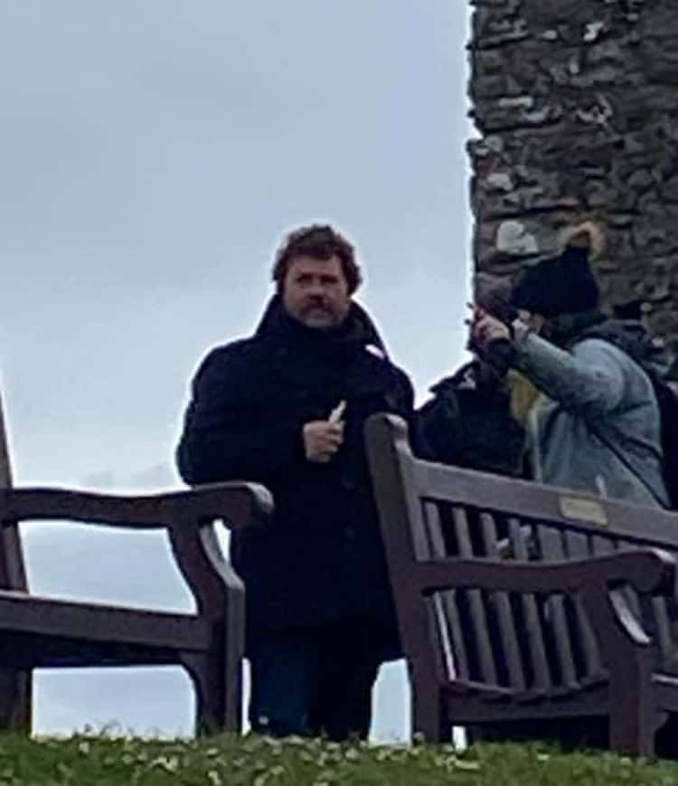 Michael Ball in Tenby on Castle Hill