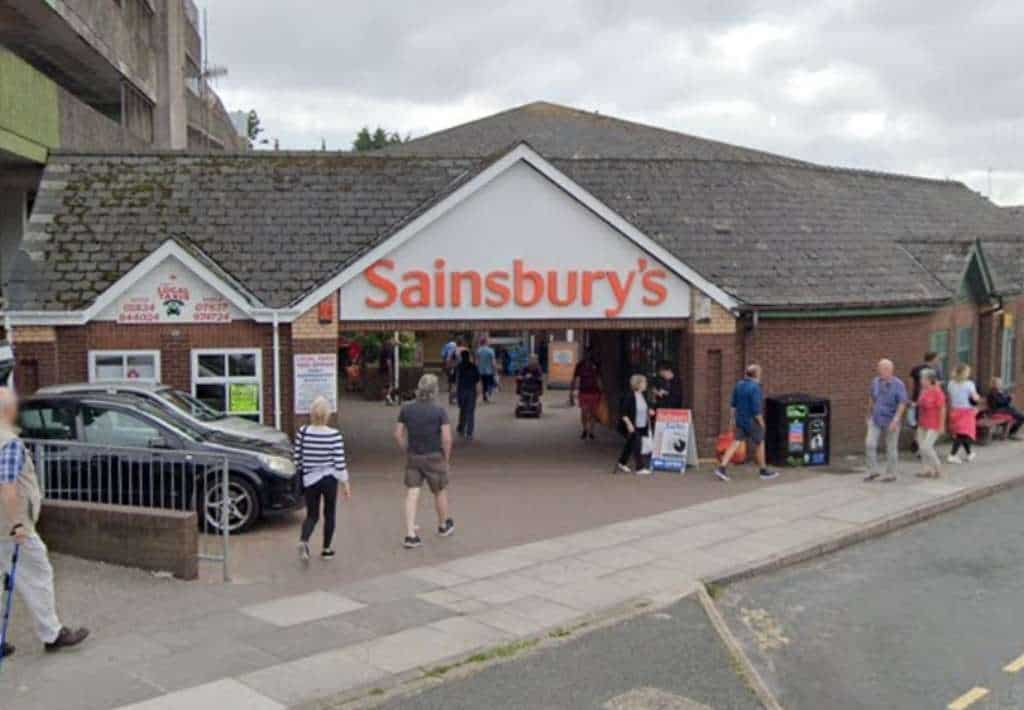 Sainsbury's is one of Tenby's largest supermarkets